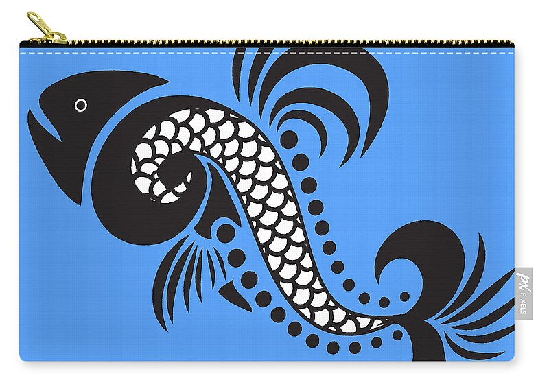 Fish Carry-all Pouch featuring the mixed media Plenty Of Fish In The Sea 4 Fish by Angelina Vick