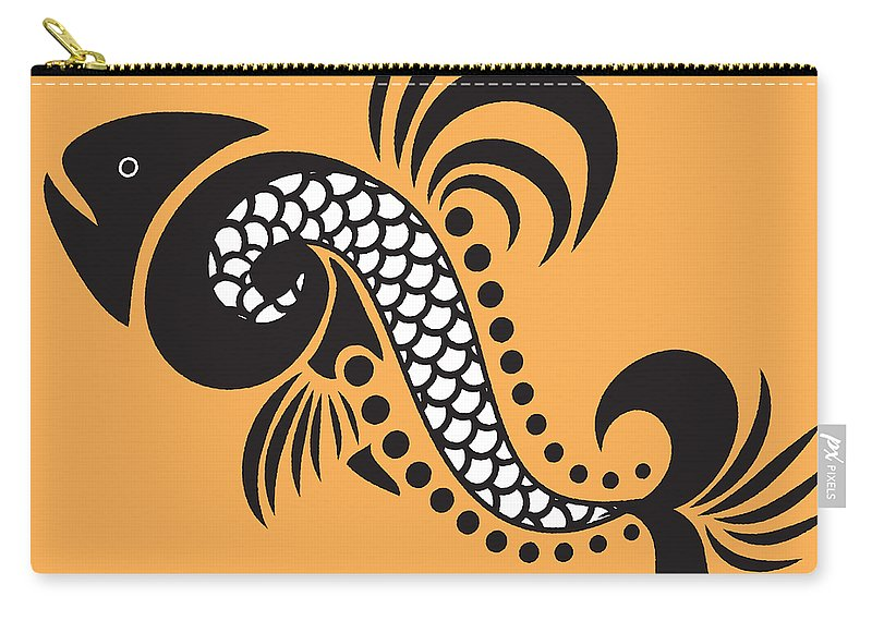 Fish Carry-all Pouch featuring the mixed media Plenty Of Fish In The Sea 5 Fish by Angelina Vick