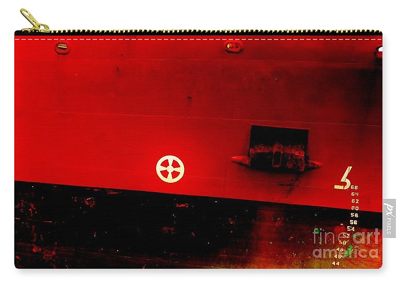 Color Carry-all Pouch featuring the photograph Plimsoll Line by Amar Sheow
