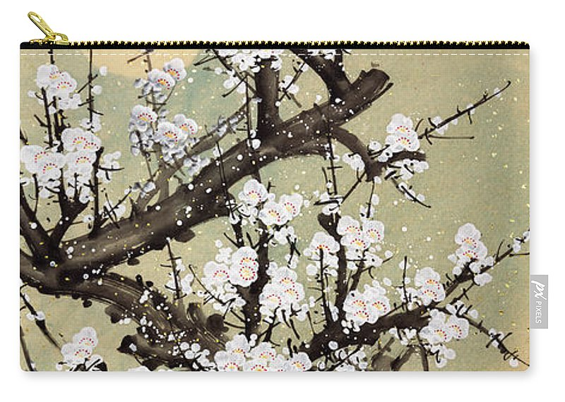 Chinese Culture Carry-all Pouch featuring the digital art Plum Blossom by Vii-photo