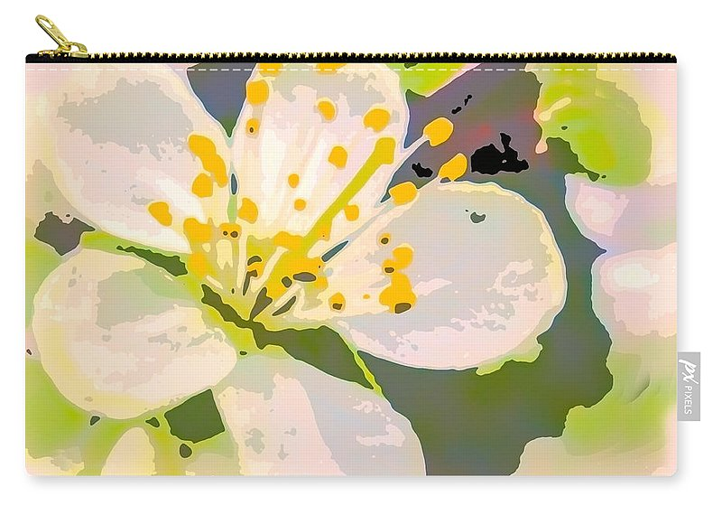 Flower Carry-all Pouch featuring the photograph Plum Pink by Susan Eileen Evans
