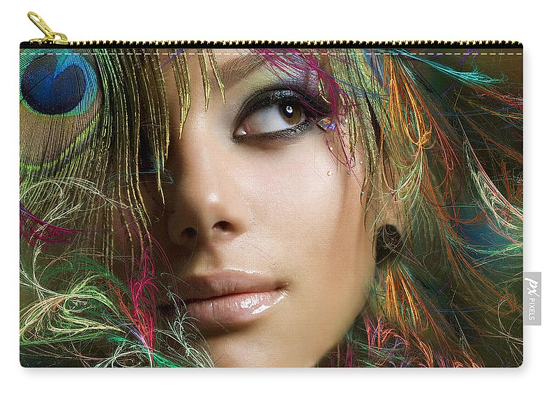 Fractal Carry-all Pouch featuring the photograph Plumage by Sylvia Thornton