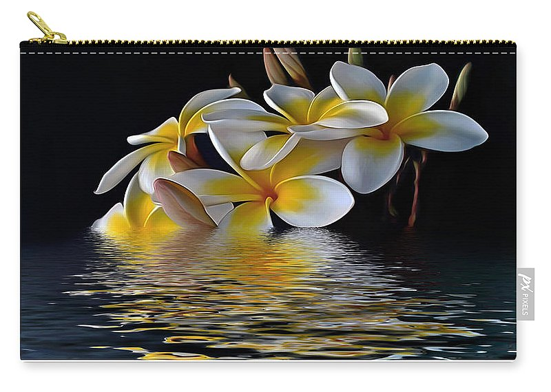 Photography Carry-all Pouch featuring the photograph Plumeria Alba by Kaye Menner