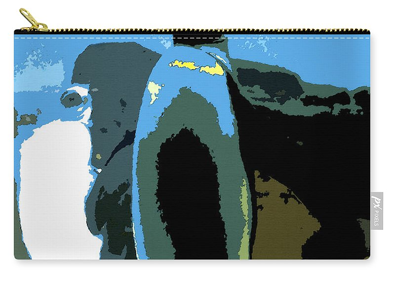 Emperor Penguin Carry-all Pouch featuring the painting Standing Tall by David Lee Thompson