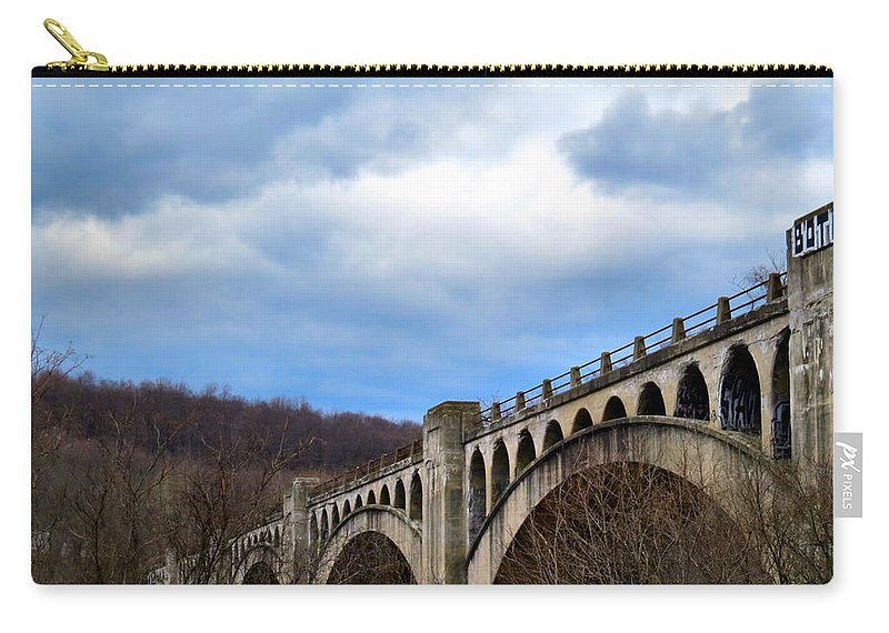 Bridge Carry-all Pouch featuring the photograph Pocket Full Of Posies by Art Dingo