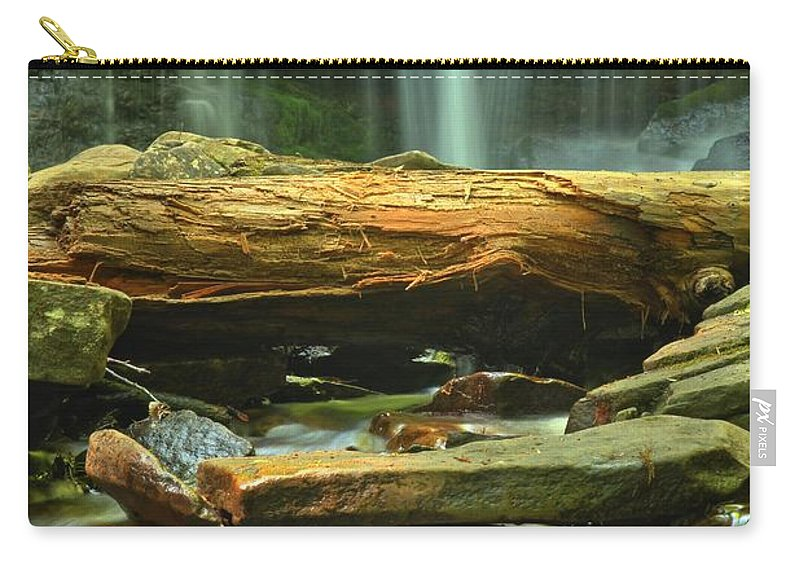 Ricketts Glen Waterfalls Carry-all Pouch featuring the photograph Poconos Cascades by Adam Jewell