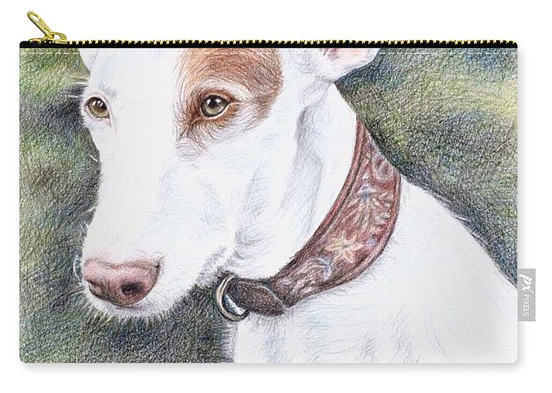 Dog Carry-all Pouch featuring the drawing Podenco Ibicenco by Nicole Zeug