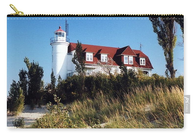 Lighthouse Carry-all Pouch featuring the photograph Point Betsie Lighthouse by Crystal Nederman