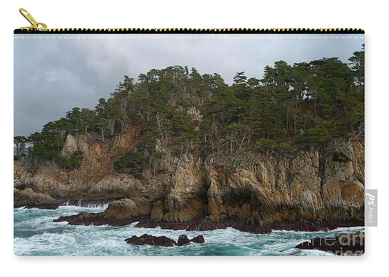 Point Lobos Carry-all Pouch featuring the photograph Point Lobos Coastal View by Charlene Mitchell