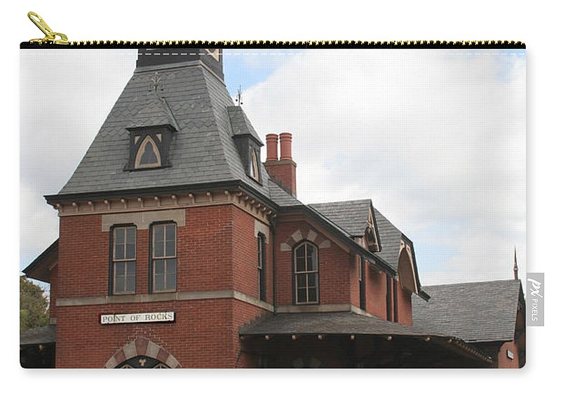 Train Carry-all Pouch featuring the photograph Point Of Rocks by Thomas Marchessault