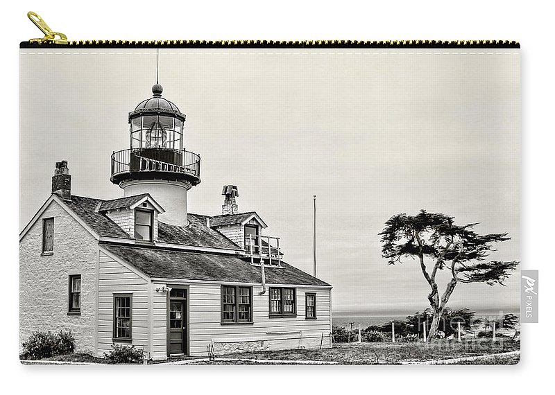 Lighthouse Carry-all Pouch featuring the photograph Point Pinos Lighthouse By Diana Sainz by Diana Raquel Sainz