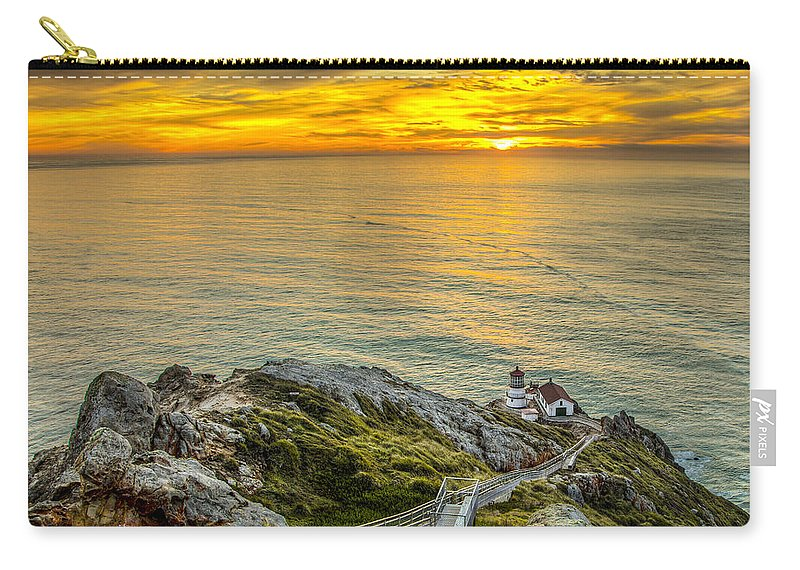 Point Reyes Lighthouse Carry-all Pouch featuring the photograph Point Reyes Lighthouse by Chris Austin