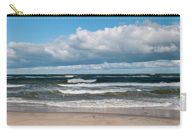 Water's Edge Carry-all Pouch featuring the photograph Poland, View Of Baltic Sea In Autumn At by Westend61