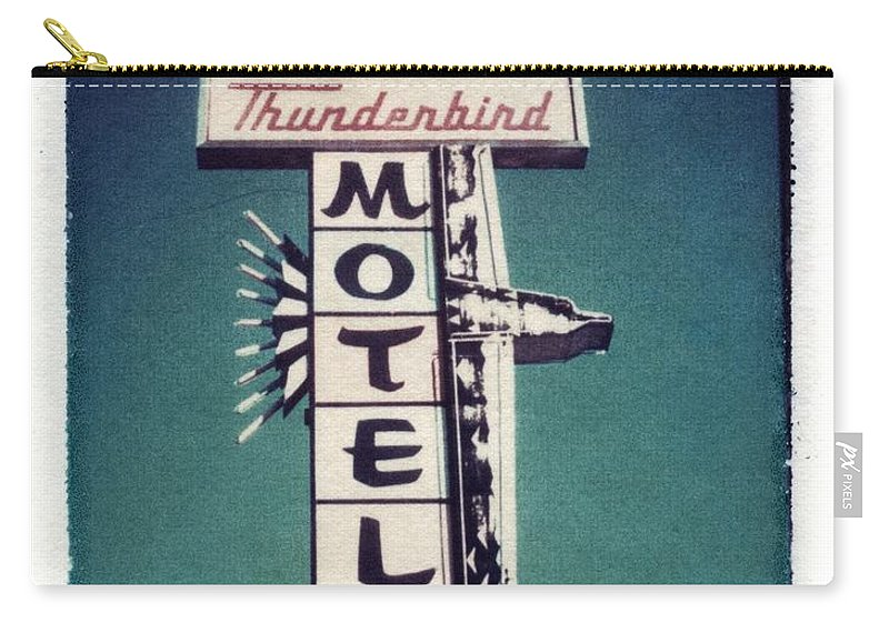 Motel Carry-all Pouch featuring the photograph Polaroid Transfer Motel by Jane Linders