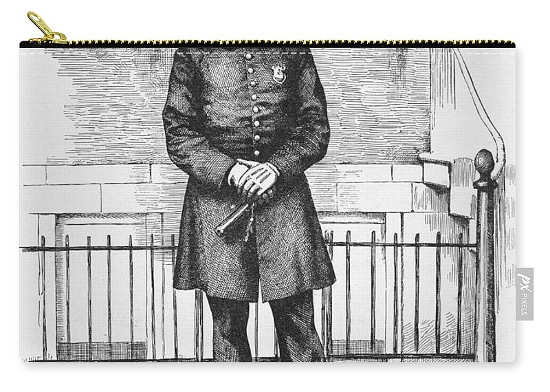 1885 Carry-all Pouch featuring the painting Policeman, C1885 by Granger