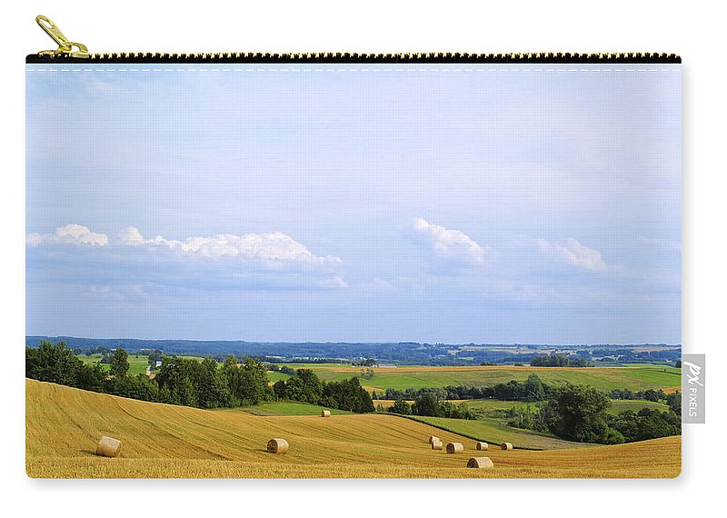 Field Carry-all Pouch featuring the photograph Polish Field by Karol Kozlowski