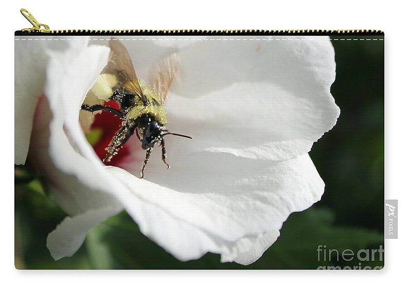 Bumblebee Carry-all Pouch featuring the photograph Pollenated Bumblebee by Renee Croushore