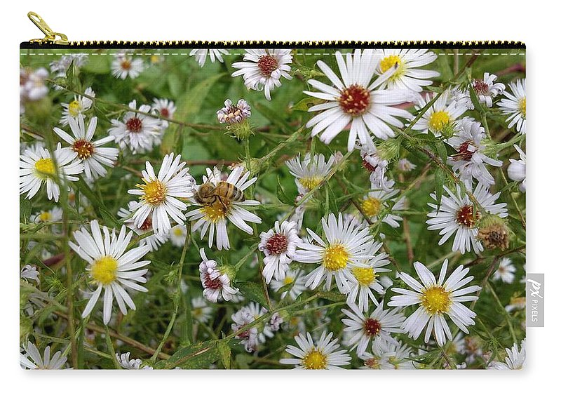 Bee Carry-all Pouch featuring the photograph Pollenation by Lisa Wormell