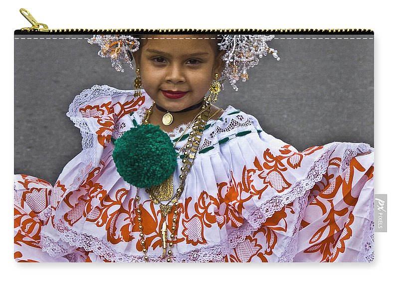 People Carry-all Pouch featuring the photograph Pollera Costume by Heiko Koehrer-Wagner