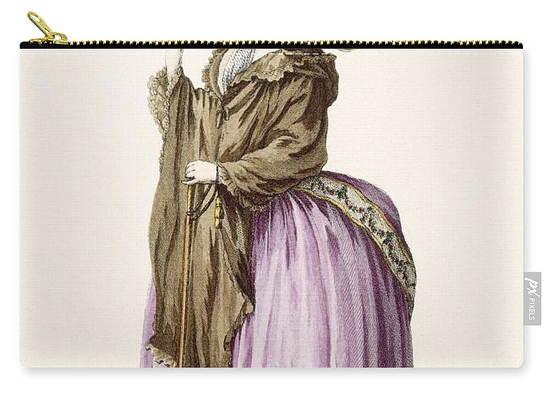 Carry-all Pouch featuring the drawing Polonoise, Engraved By Voysard, Plate by Claude Louis Desrais