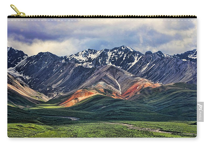 Polychrome Carry-all Pouch featuring the photograph Polychrome by Heather Applegate