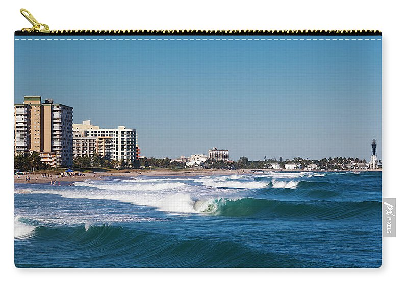 Tranquility Carry-all Pouch featuring the photograph Pompano Beach, Florida, Exterior View by Walter Bibikow