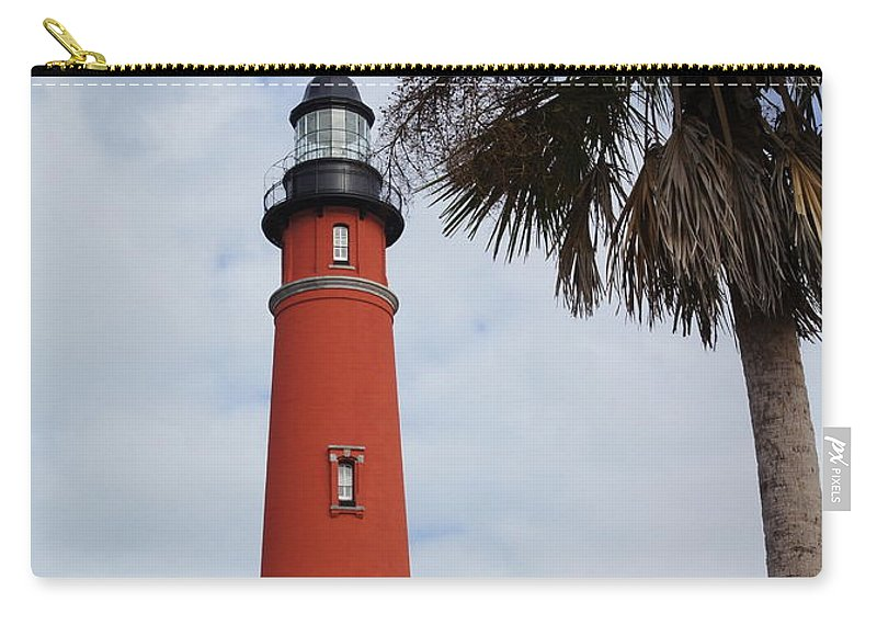 Lighthouse Carry-all Pouch featuring the photograph Ponce Inlet Lighthouse by Megan Cohen
