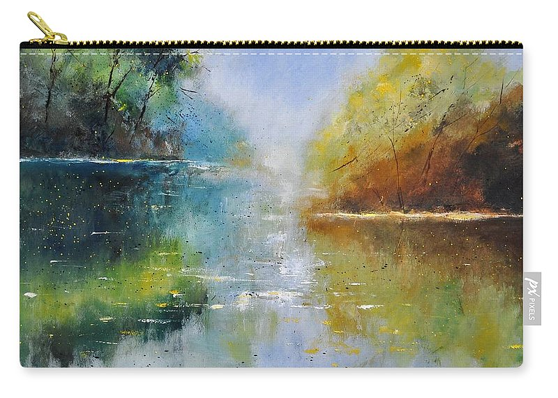 Landscape Carry-all Pouch featuring the painting Pond 882121 by Pol Ledent