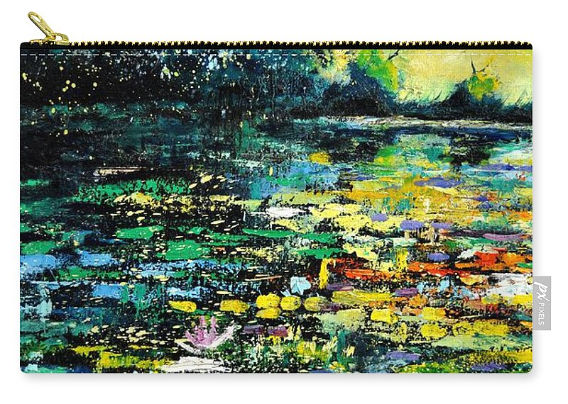 Pond Carry-all Pouch featuring the painting Pond 96 by Pol Ledent