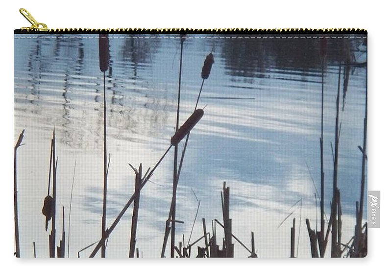Landscape Carry-all Pouch featuring the photograph Pond At Twilight by Eric Schiabor