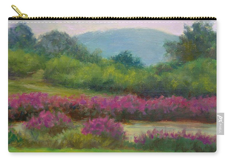 Landscape Carry-all Pouch featuring the painting Pond At Willow Tree Farm by Phyllis Tarlow