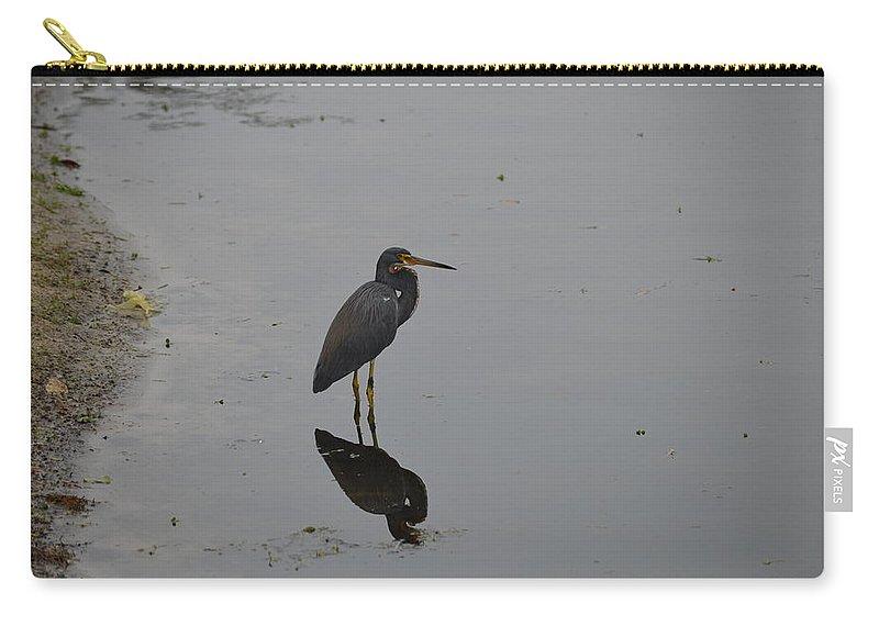 Bird Carry-all Pouch featuring the photograph Pond Bird by Linda Kerkau