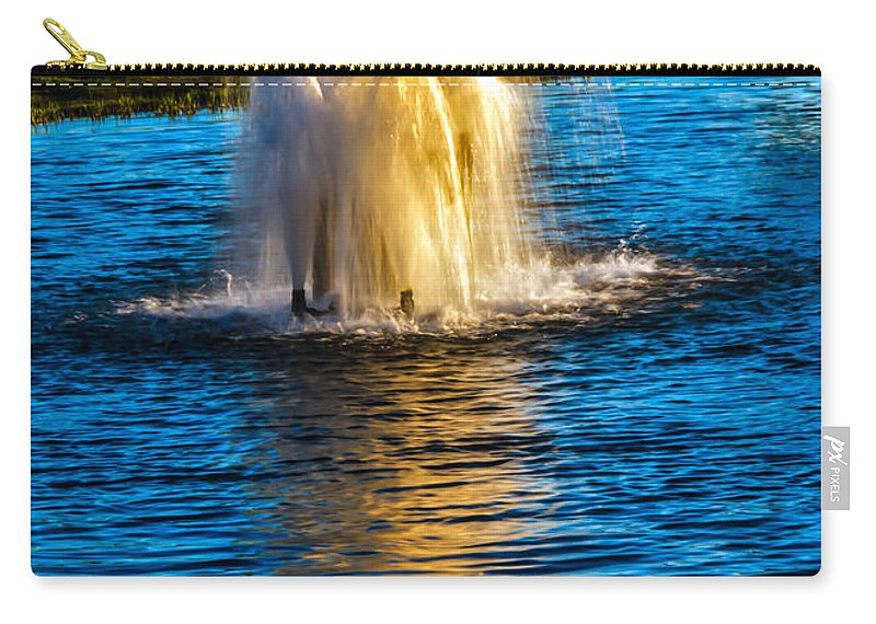 Pond Carry-all Pouch featuring the photograph Pond Fountain by Robert Bales