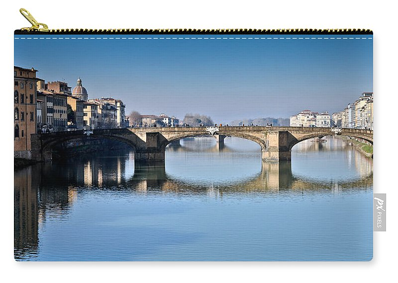 Arno Carry-all Pouch featuring the photograph Ponte Santa Trinita Florence Italy by Gary Eason