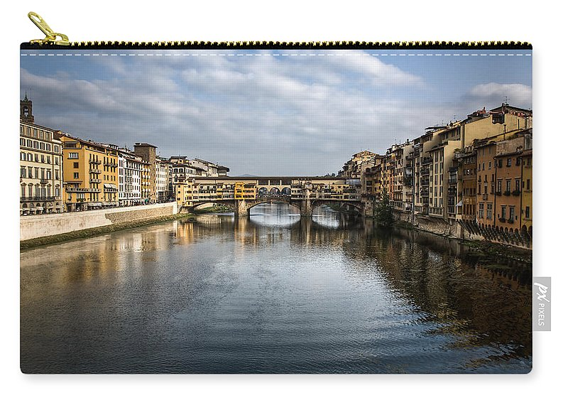 Italy Carry-all Pouch featuring the photograph Ponte Vecchio by Dave Bowman
