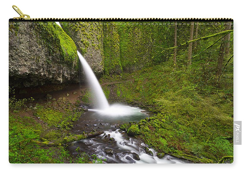 Columbia River Gorge Carry-all Pouch featuring the photograph Ponytail Falls by Patricia Davidson