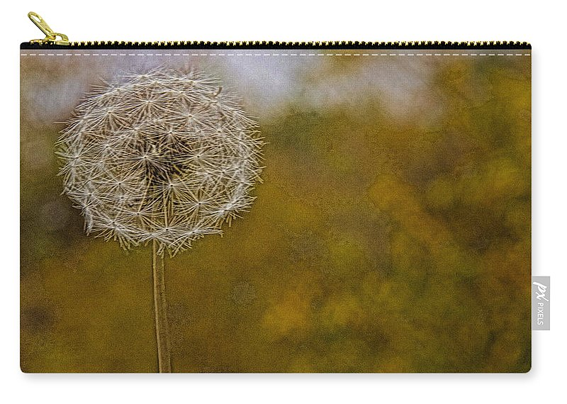 Poof Plant Air Closeup Weed Alicegipsonphotographs Carry-all Pouch featuring the photograph Poof by Alice Gipson