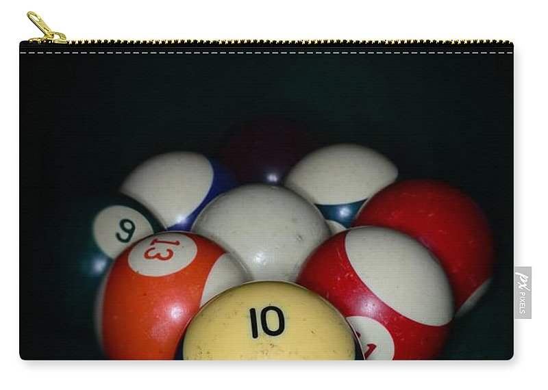 Paul Ward Carry-all Pouch featuring the photograph Pool Balls by Paul Ward