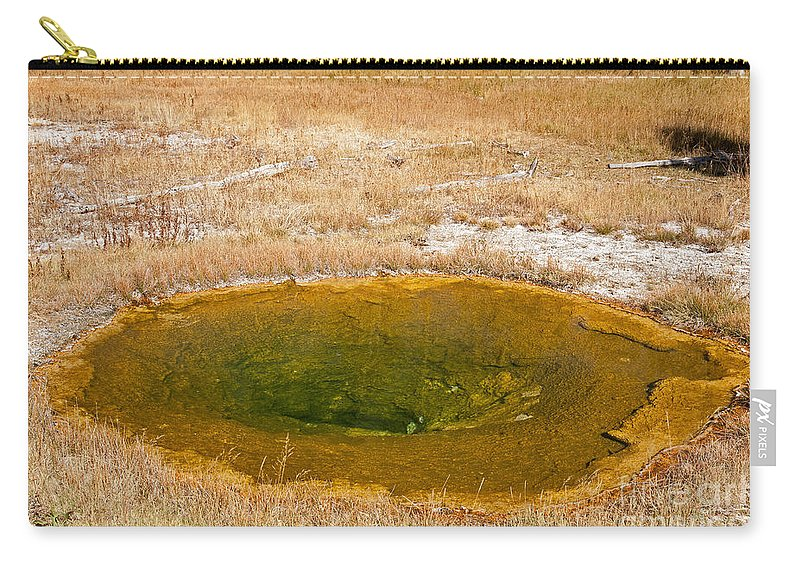 National Parks Carry-all Pouch featuring the photograph Pool In Upper Geyser Basin In Yellowstone National Park by Fred Stearns
