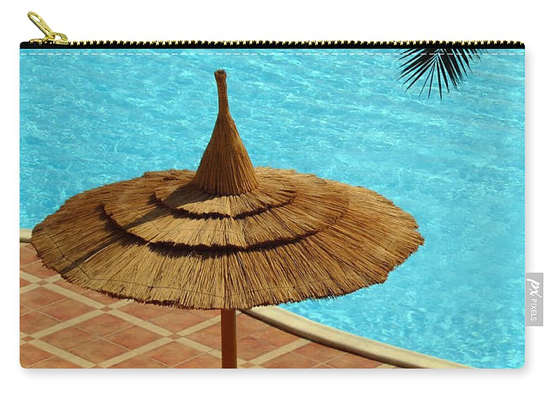 Pool Carry-all Pouch featuring the photograph Poolside Relaxation by Antony McAulay