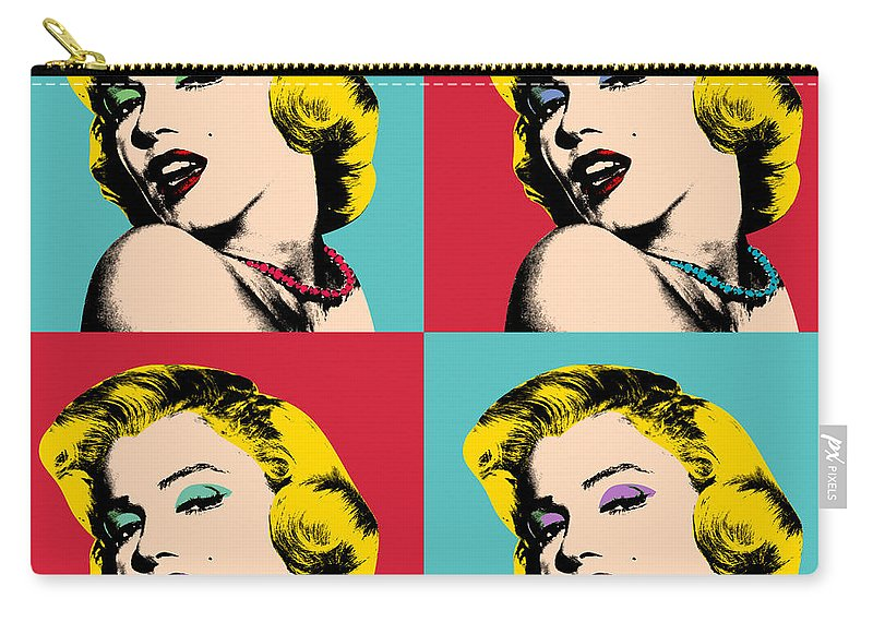 Pop Art Carry-all Pouch featuring the painting Pop Art Collage by Mark Ashkenazi
