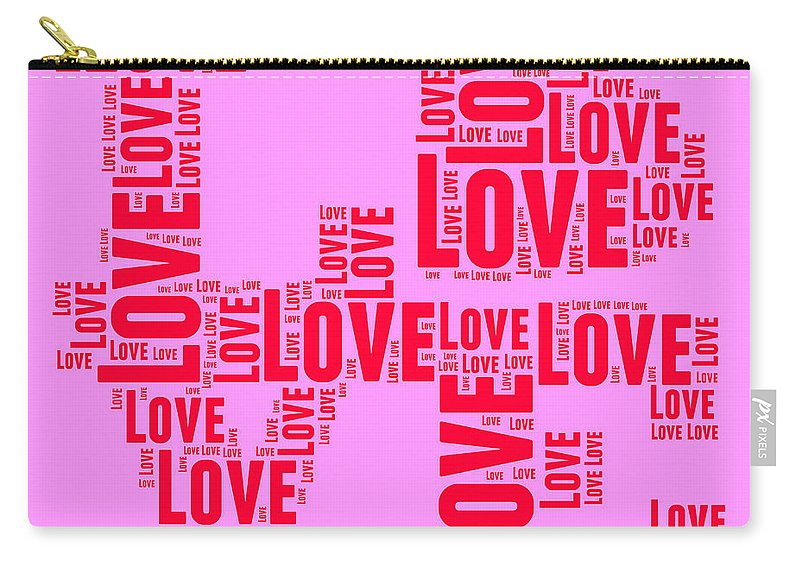 Love Carry-all Pouch featuring the digital art Pop Love 4 by Delphimages Photo Creations