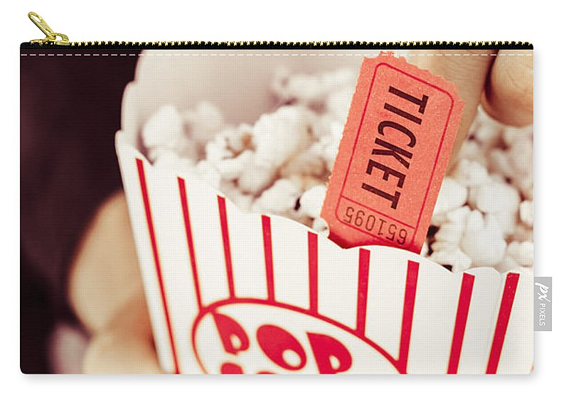Drama Carry-all Pouch featuring the photograph Popcorn Box Office by Jorgo Photography - Wall Art Gallery
