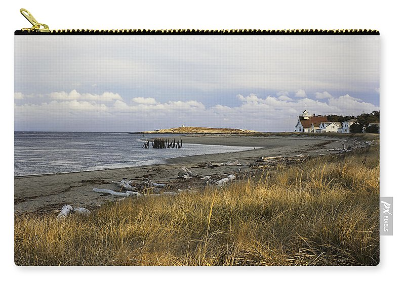 Maine Carry-all Pouch featuring the photograph Popham Beach On The Maine Coast by Keith Webber Jr