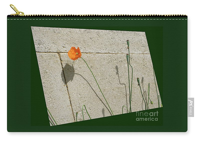 Poppy Carry-all Pouch featuring the photograph Poppy by Ann Horn