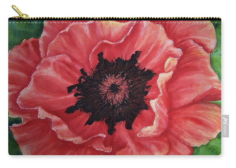 Poppy Carry-all Pouch featuring the painting Poppy by Conni Reinecke