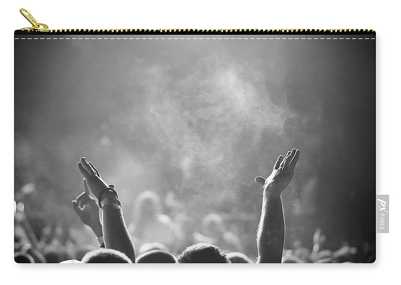Rock Music Carry-all Pouch featuring the photograph Popular Music Concert by Alenpopov