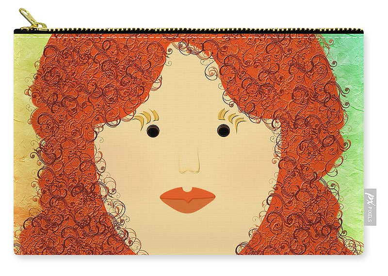 Andee Design Carry-all Pouch featuring the digital art Porcelain Doll 4 by Andee Design