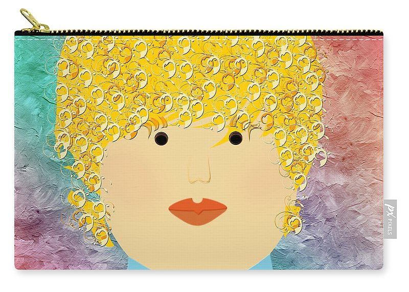 Andee Design Carry-all Pouch featuring the digital art Porcelain Doll 6 by Andee Design