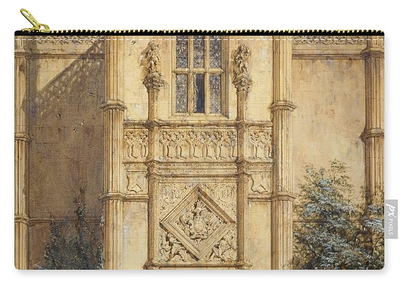 Porch Carry-all Pouch featuring the painting Porch At Montacute, 1842 by John Nash